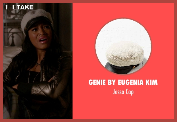 Genie By Eugenia Kim white cap from Scream Queens seen with Zayday Williams (Keke Palmer)