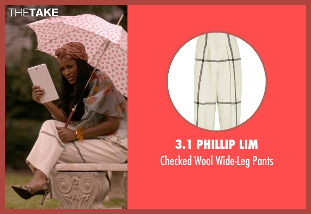 3.1 Phillip Lim white pants from Scream Queens seen with Zayday Williams (Keke Palmer)