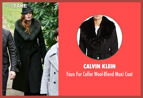 Calvin Klein black coat from Once Upon a Time seen with Zelena (Rebecca Mader)