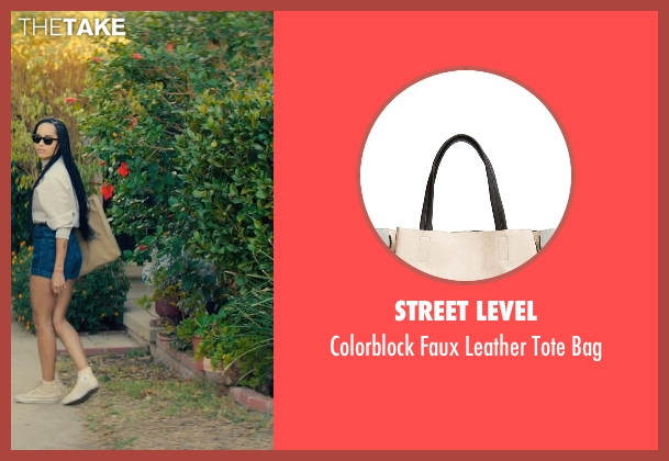 Street Level beige bag from Dope seen with Zoë Kravitz (Nakia)