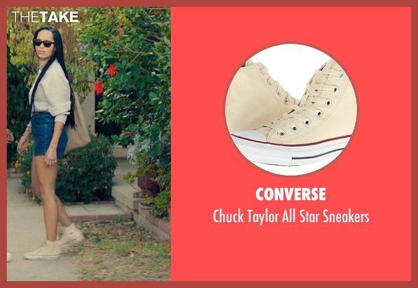 Converse beige sneakers from Dope seen with Zoë Kravitz (Nakia)