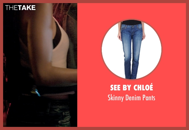 See by Chloé blue pants from Dope seen with Zoë Kravitz (Nakia)