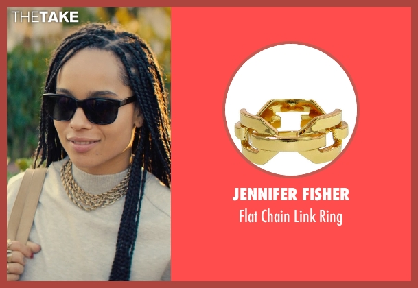 Jennifer Fisher gold ring from Dope seen with Zoë Kravitz (Nakia)