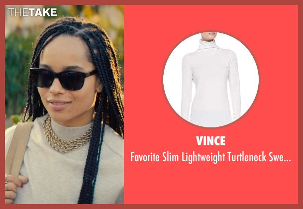 Vince white sweater from Dope seen with Zoë Kravitz (Nakia)