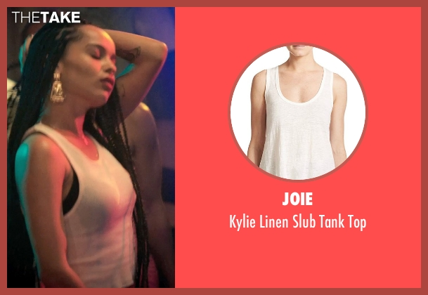 Joie white top from Dope seen with Zoë Kravitz (Nakia)