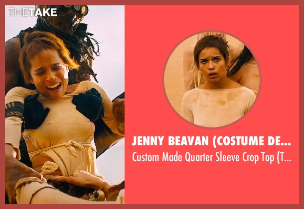 Jenny Beavan (Costume Designer) beige top from Mad Max: Fury Road seen with Zoë Kravitz (Toast)