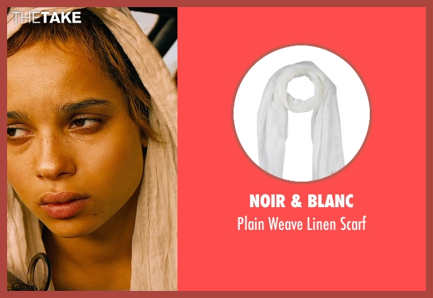 Noir & Blanc white scarf from Mad Max: Fury Road seen with Zoë Kravitz (Toast)