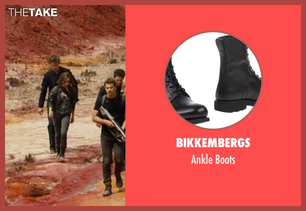 Bikkembergs black boots from The Divergent Series: Allegiant seen with Zoë Kravitz (Christina)