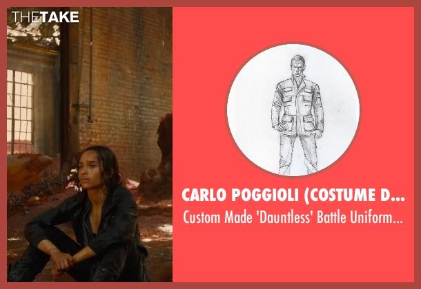 Carlo Poggioli (Costume Designer) black jacket from The Divergent Series: Allegiant seen with Zoë Kravitz (Christina)