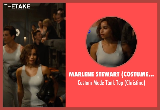 Marlene Stewart (Costume Designer) white top from The Divergent Series: Allegiant seen with Zoë Kravitz (Christina)