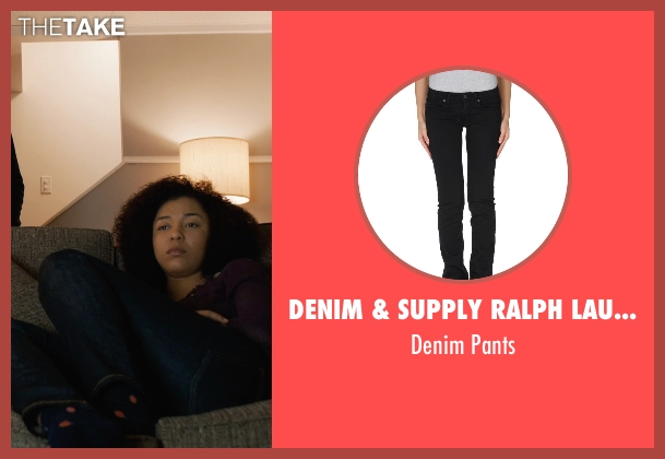 Denim & Supply Ralph Lauren black pants from Prisoners seen with Zoë Soul (Eliza Birch)
