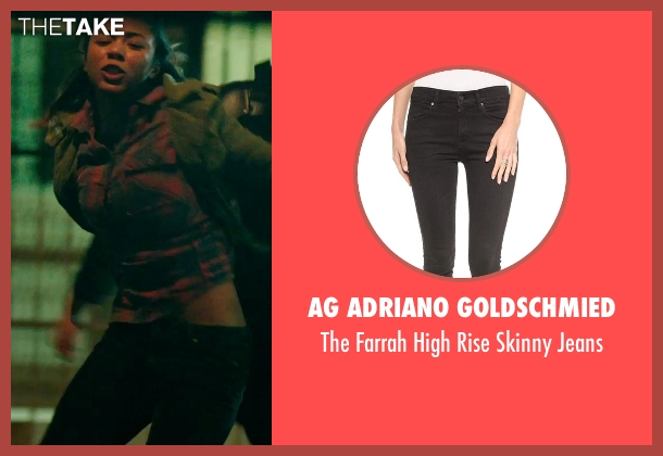 AG Adriano Goldschmied black jeans from The Purge: Anarchy seen with Zoë Soul (Cali)