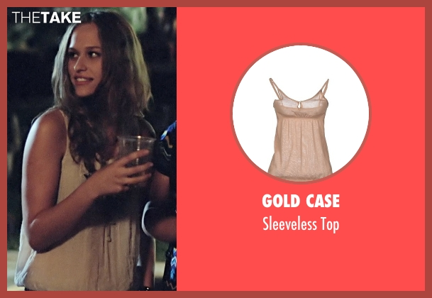Gold Case beige top from Boyhood seen with Zoe Graham (Sheena)