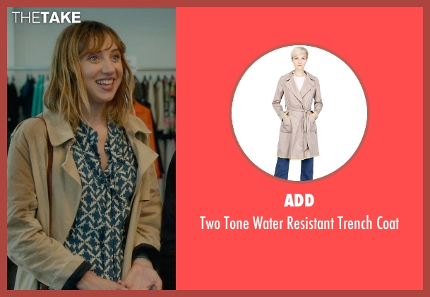 Add beige coat from What If seen with Zoe Kazan (Chantry)