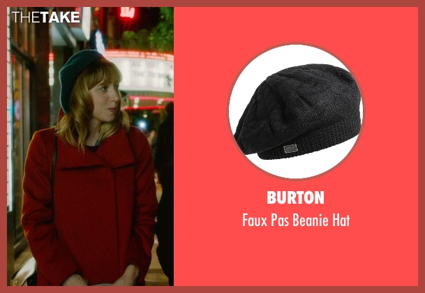 Burton black hat from What If seen with Zoe Kazan (Chantry)