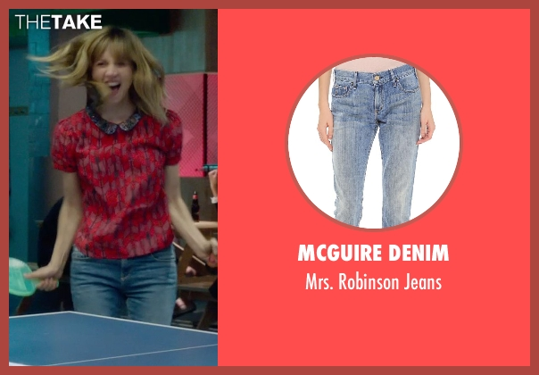 McGuire Denim blue jeans from What If seen with Zoe Kazan (Chantry)
