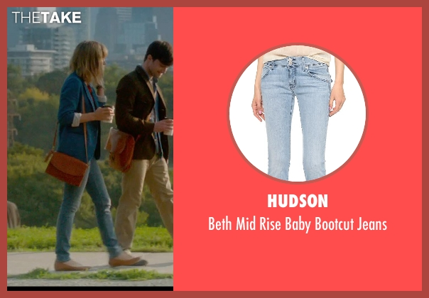 Hudson blue jeans from What If seen with Zoe Kazan (Chantry)