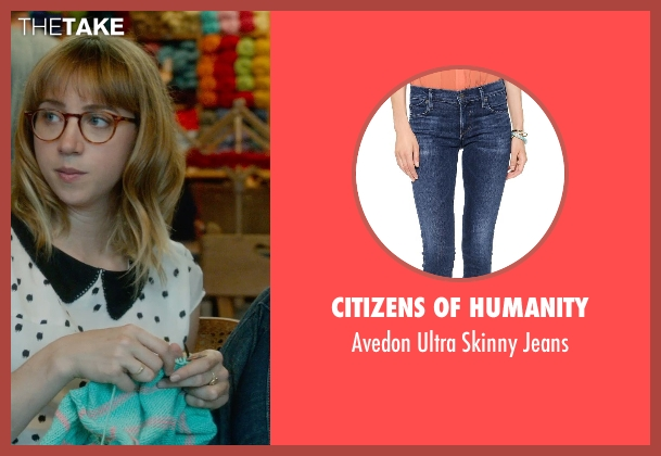 Citizens of Humanity blue jeans from What If seen with Zoe Kazan (Chantry)