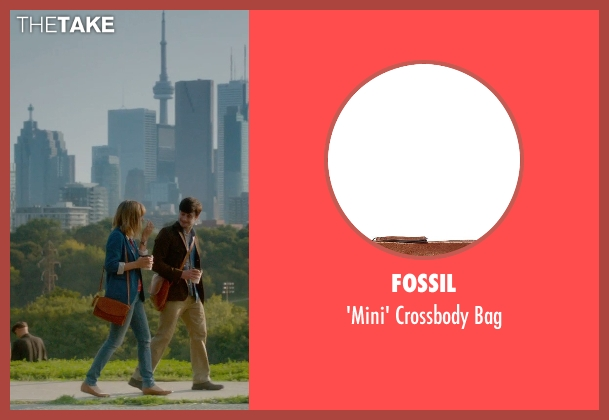 Fossil brown bag from What If seen with Zoe Kazan (Chantry)