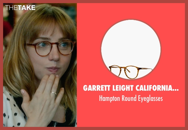 Garrett Leight California Optical eyeglasses from What If seen with Zoe Kazan (Chantry)
