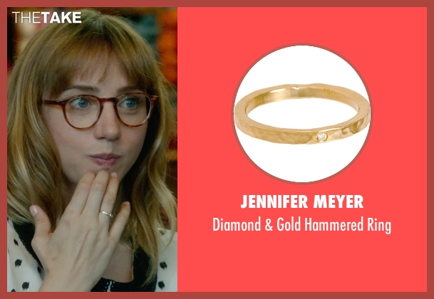 Jennifer Meyer gold ring from What If seen with Zoe Kazan (Chantry)