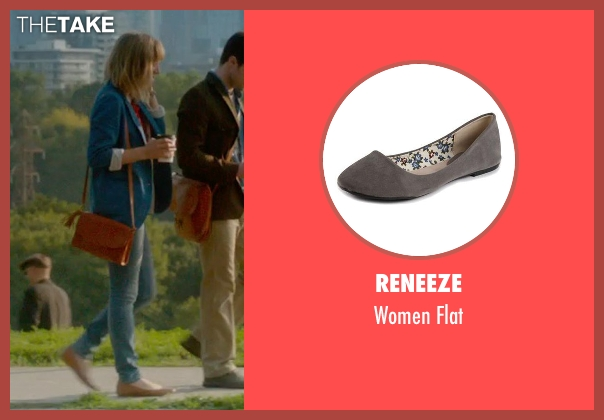 Reneeze gray flat from What If seen with Zoe Kazan (Chantry)