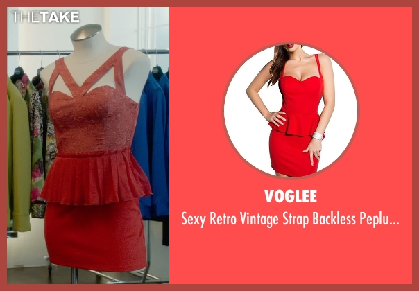 Voglee red dress from What If seen with Zoe Kazan (Chantry)