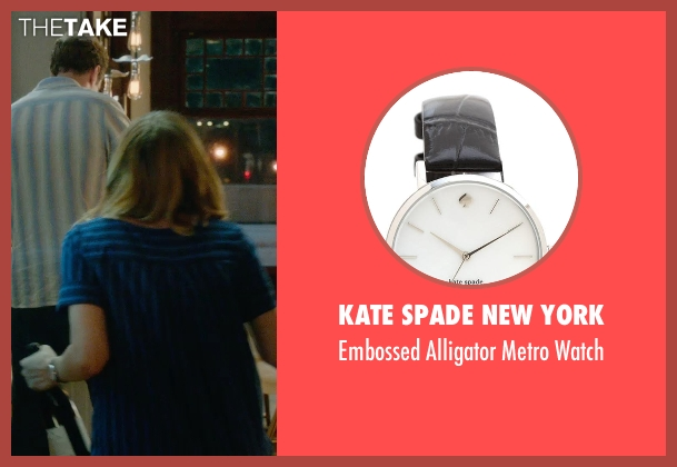 Kate Spade New York silver watch from What If seen with Zoe Kazan (Chantry)
