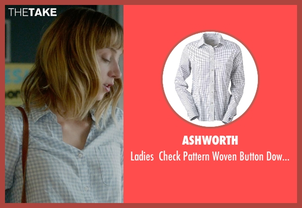 Ashworth white shirt from What If seen with Zoe Kazan (Chantry)