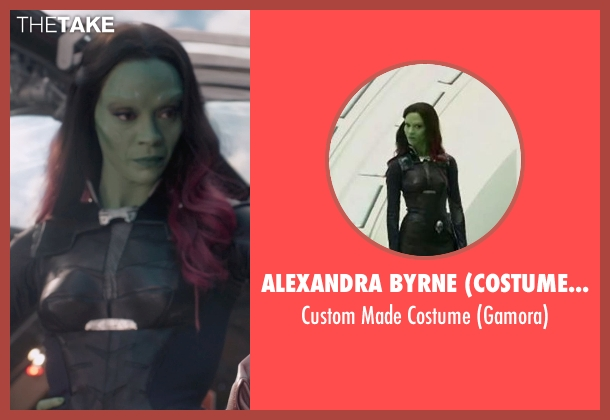 Alexandra Byrne (Costume Designer) costume from Guardians of the Galaxy seen with Zoe Saldana (Gamora)