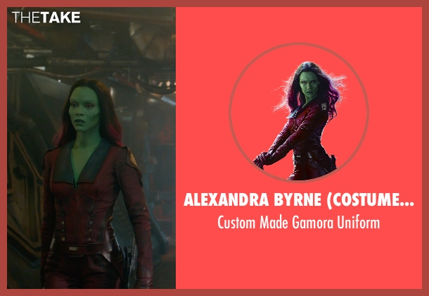 Alexandra Byrne (Costume Designer) uniform from Guardians of the Galaxy seen with Zoe Saldana (Gamora)