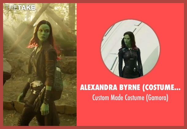 Alexandra Byrne (Costume Designer) costume from Guardians of the Galaxy Vol. 2 seen with Zoe Saldana (Gamora)