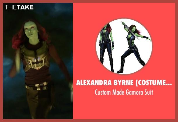 Alexandra Byrne (Costume Designer) suit from Guardians of the Galaxy Vol. 2 seen with Zoe Saldana (Gamora)