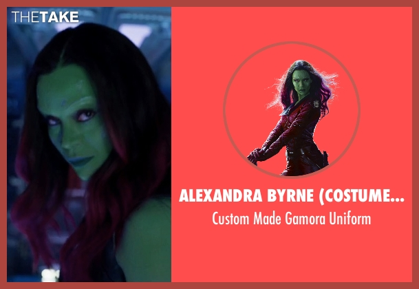 Alexandra Byrne (Costume Designer) uniform from Guardians of the Galaxy Vol. 2 seen with Zoe Saldana (Gamora)