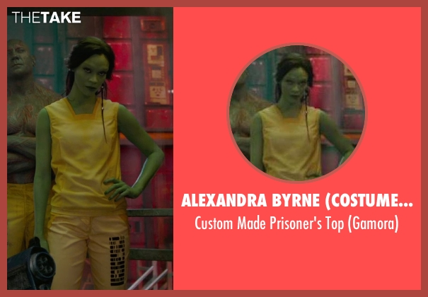 Alexandra Byrne (Costume Designer) yellow top from Guardians of the Galaxy seen with Zoe Saldana (Gamora)