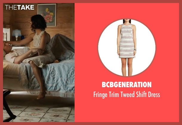 BCBGeneration beige dress from Live By Night seen with Zoe Saldana (Graciella Suarez)