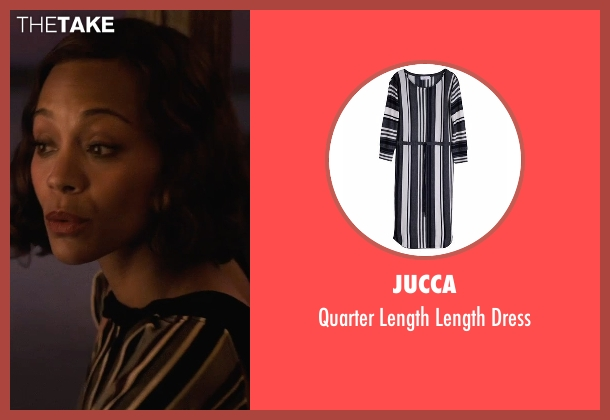 Jucca black dress from Live By Night seen with Zoe Saldana (Graciella Suarez)