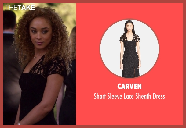 Carven black dress from Nashville seen with Zoey Dalton  (Chaley Rose)