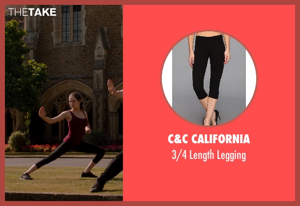 C&C California black legging from Vampire Academy seen with Zoey Deutch (Rose Hathaway)