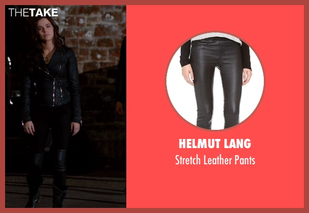 Helmut Lang black pants from Vampire Academy seen with Zoey Deutch (Rose Hathaway)