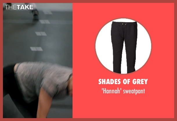 SHADES OF GREY black sweatpant from Vampire Academy seen with Zoey Deutch (Rose Hathaway)