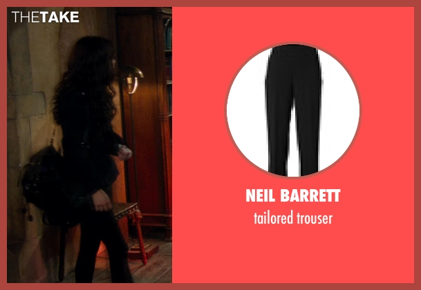 NEIL BARRETT black trouser from Vampire Academy seen with Zoey Deutch (Rose Hathaway)
