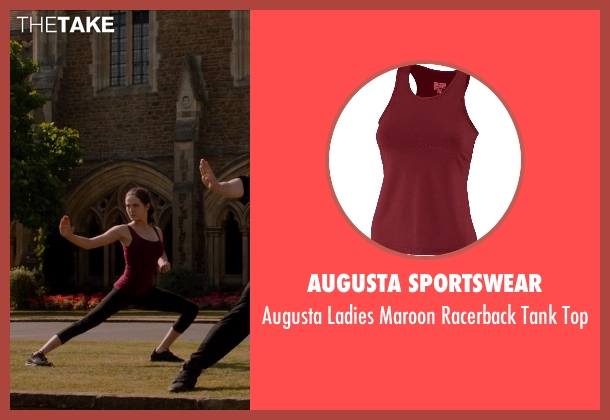 Augusta Sportswear red top from Vampire Academy seen with Zoey Deutch (Rose Hathaway)