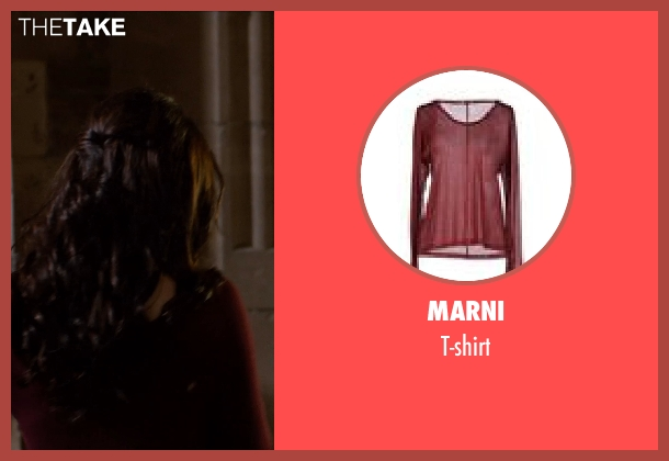 MARNI red t-shirt from Vampire Academy seen with Zoey Deutch (Rose Hathaway)
