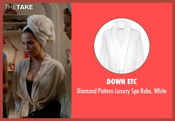 Down Etc white white from Vampire Academy seen with Zoey Deutch (Rose Hathaway)
