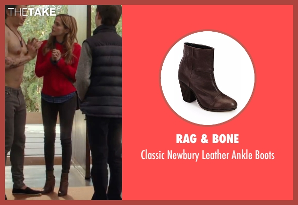 Rag & Bone brown boots from Why Him? seen with Zoey Deutch (Stephanie Fleming)