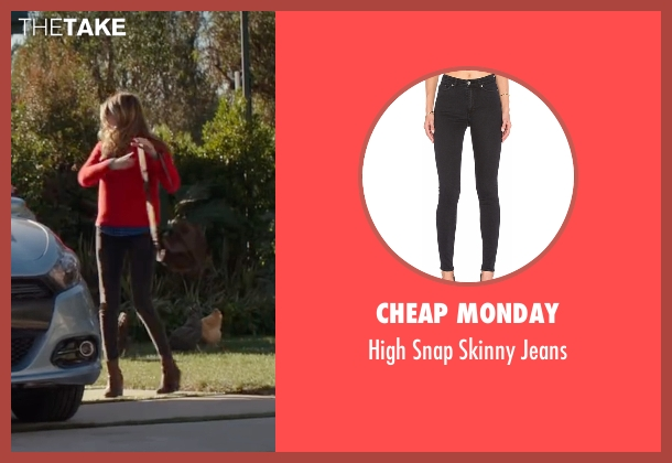 Cheap Monday gray jeans from Why Him? seen with Zoey Deutch (Stephanie Fleming)