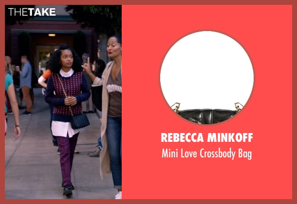 Rebecca Minkoff black bag from Black-ish seen with Zoey Johnson (Yara Shahidi)