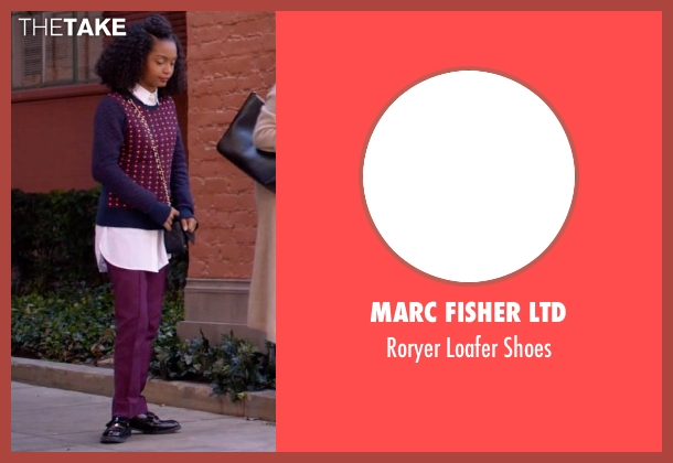 Marc Fisher Ltd black shoes from Black-ish seen with Zoey Johnson (Yara Shahidi)