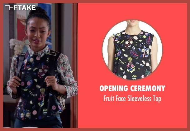 Opening Ceremony black top from Black-ish seen with Zoey Johnson (Yara Shahidi)